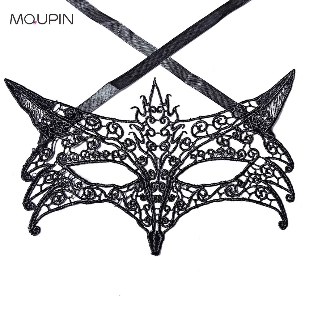 MQUPIN Sexy Lace Mask Sexy Fox Styling Theme Party Lace Butterfly Shape Mask Sexy Exotic Lingerie Accessories Cosplay Adult Toy