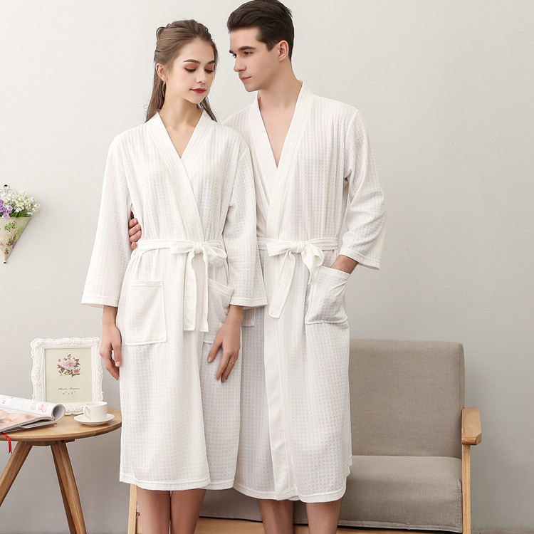 NewBang Brand Lovers Knee Length Suck Sweat Kimono Bath Robe Mens ...