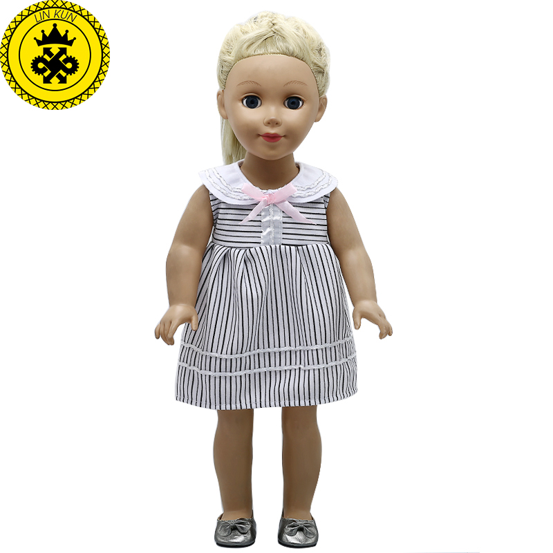 American Girl Doll Clothes 3 Colors Wave Point Striped Princess fit 18 inch American Girl Doll Accessories Girl's Gift 348 18 inch doll clothes and accessories 15 styles princess skirt dress swimsuit suit for american dolls girl best gift d3