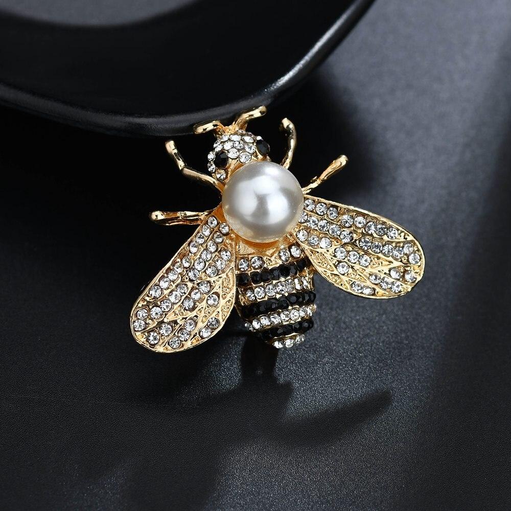 Terreau Кэти модные Винтаж цинковый сплав, эмаль милые жемчужные броши для Для женщин насекомых и броши