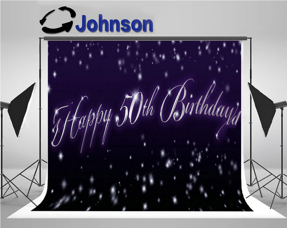 <font><b>happy</b></font> <font><b>50th</b></font> <font><b>Birthday</b></font> sparkly snow bokeh purple party <font><b>backdrop</b></font> image