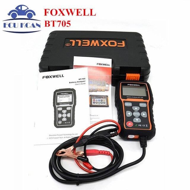 Foxwell BT705 BT-705 12 В Анализатор Батарей Тестер Непосредственно Обнаружить Плохой Автомобиль Батарея Для Автомобиля Ремонт Гаража