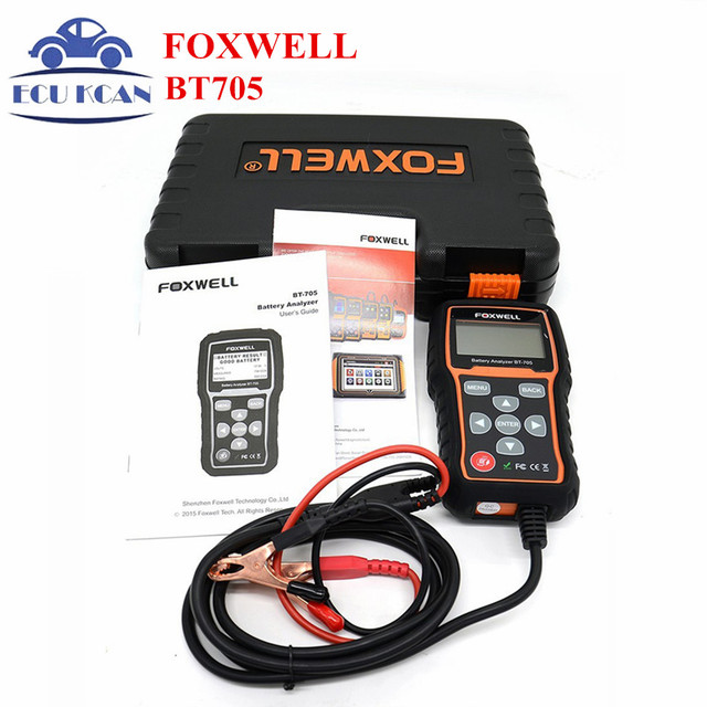 Foxwell BT705 BT-705 12V Battery Analyzer Tester Directly Detect Bad Car Cell Battery For Car Repaire Garage