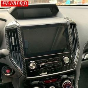 Image 3 - Moulures intérieures pour Subaru Forester 2019 fibre de carbone Center climatisation sortie évent décoration couverture garniture