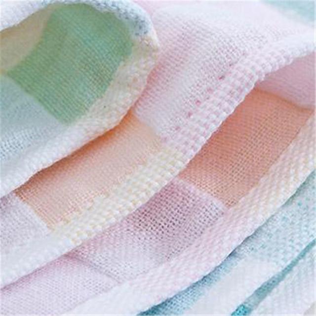Adultos crianças rosto toalhas de banho toalha de banho infantil xadrez quadrado bebê gauze muslin toalhinha de algodão towel banheiro 70a033
