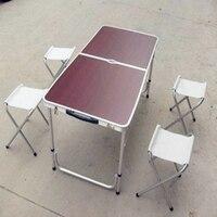 2017 Mueble мебель складной обеденный стол Открытый Алюминий Металлические столы загрузки 25 кг с зонтиком отверстие обеденная наборы для ухода