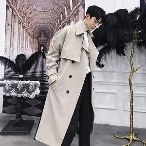 Image 1 - Mixcubic jaquetas estilo coreano, 2018, outono, estilo coreano, único, drape, trincheira, seção longa, casual, solta, blusão M XXL