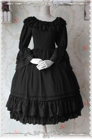 Superbe robe Lolita classique sur mesure à manches évasées en mousseline de soie robe OP Vintage par Infanta