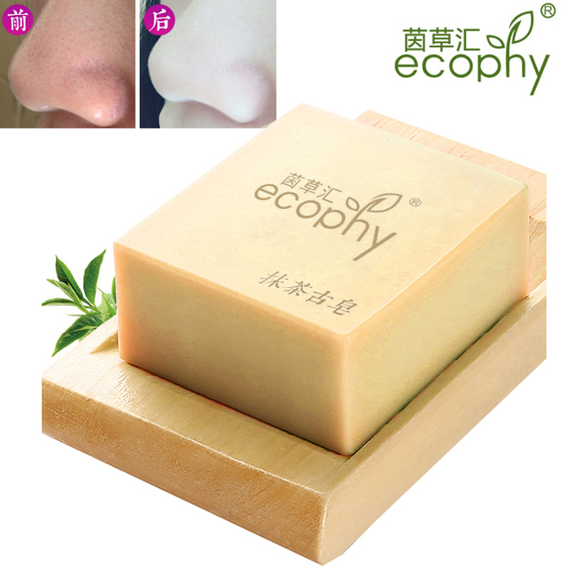Ecophy Matcha Blackhead Remover Facial Soap Cleanser Acne Treatment Facial Cleanser Whitening Extractor Skin Care Face 100g