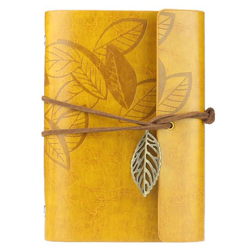 New Vintage Magic Key String Retro Imitation Leather Note Book Diary Notebook, Yellow mariyana vintage notebook journal diary magic key string retro leather note book diary notebook leaf leather cover blank