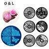 Hot Design Nail Art Template 10pcs Set Stainless Round Image Plate Stamp Stamping Kits DIY Nail