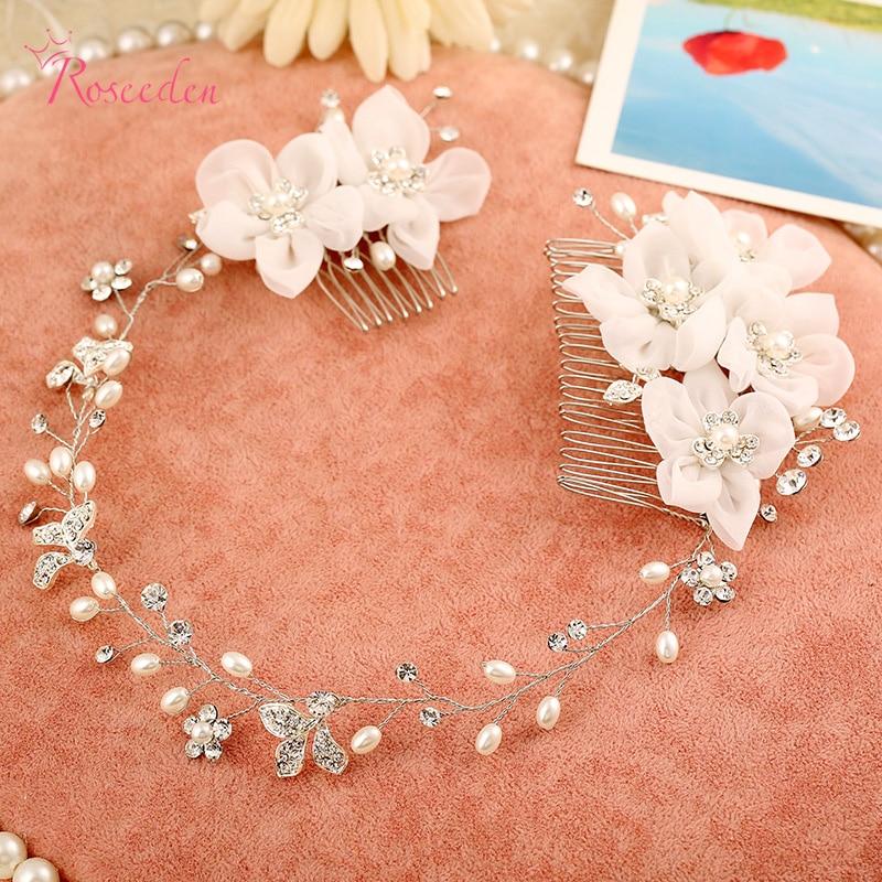 Handmade Wedding hair Accessories hair tiara and crown Flowers Noivas Wedding hair band Hair Comb For BridesRE273