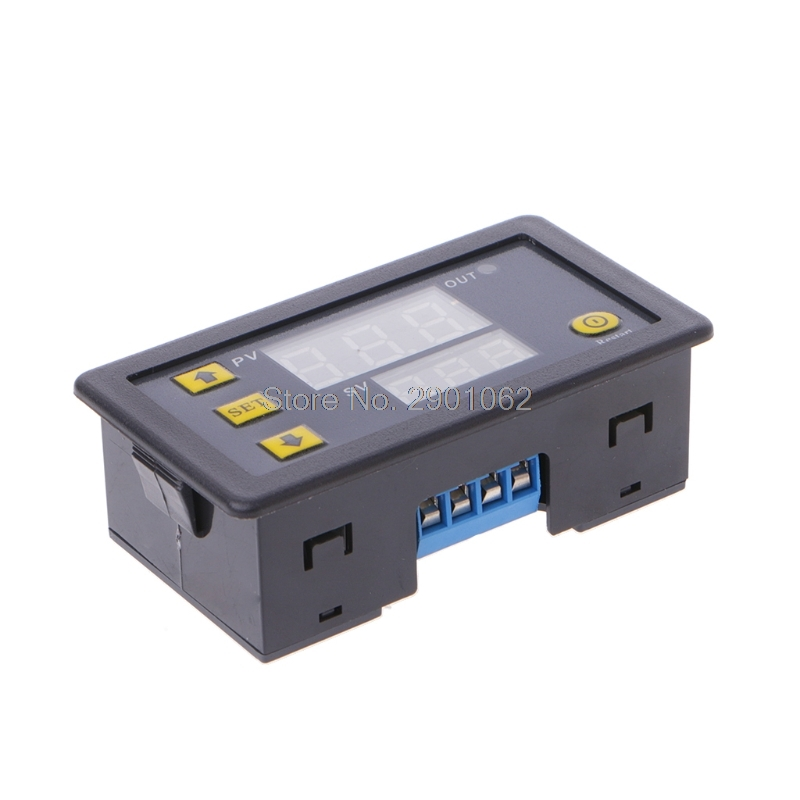 12V Timing Delay Relay Module Cycle Timer Digital LED Dual Display 0-999 Minutes #0327# 12v led display digital programmable timer timing relay switch module stable performance self lock board