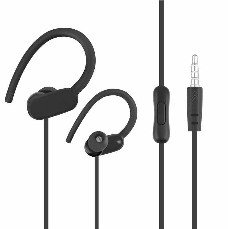 Auriculares deportivos con cable, auriculares para correr sin micrófono, auriculares estéreo de 3,5mm para computadora, teléfono, música MP3