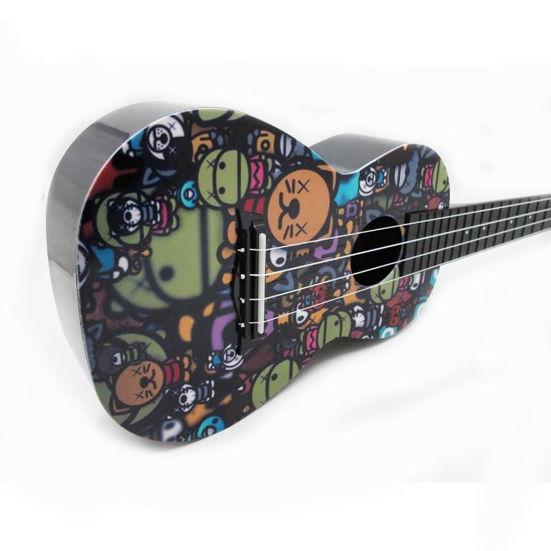 Ukulélé 24 pouces ukulélé Instrument de musique Mini guitare Hawaii Instrument à cordes grand cadeau ukulélé hawaïen facile à apprendre