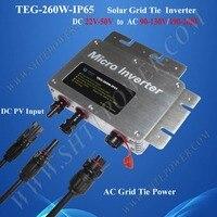 Produce 260 w solare micro invertitore del legame di griglia inverter solari impermeabile cc 24 v 36 v 48 v