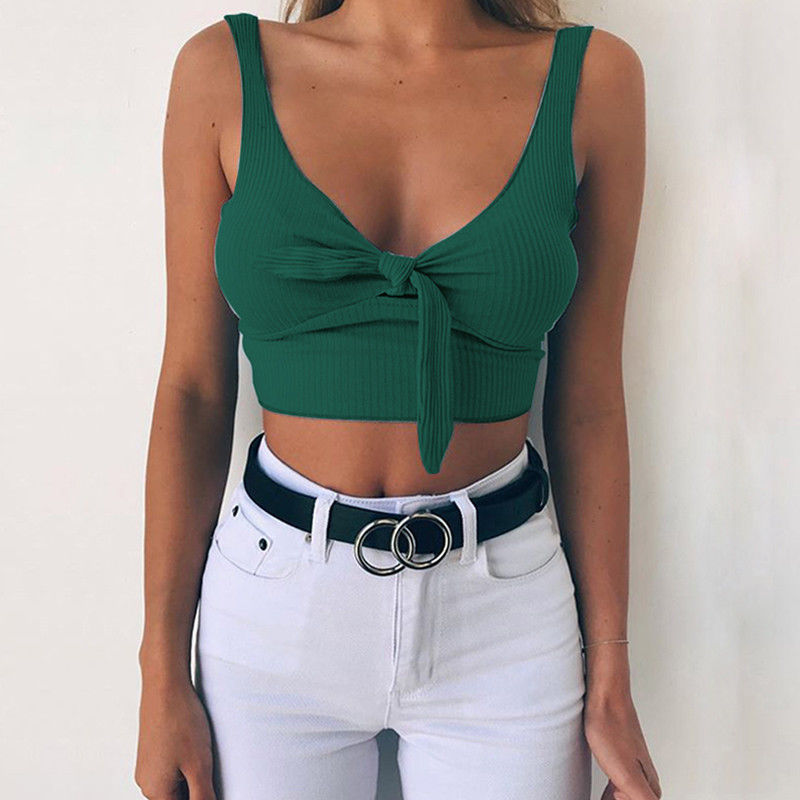 2018 New Hot sale Fashion Women Boho beach Crop Tops Vest
