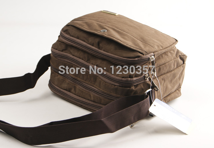 24*19CM nylon material Man black messenger bag small casual