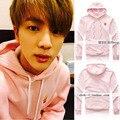 Зима Новый BTS Bangtan Мальчики джин Ким Чжин Сук пункт фри с розовый свитер свободные пальто прилив толстовки