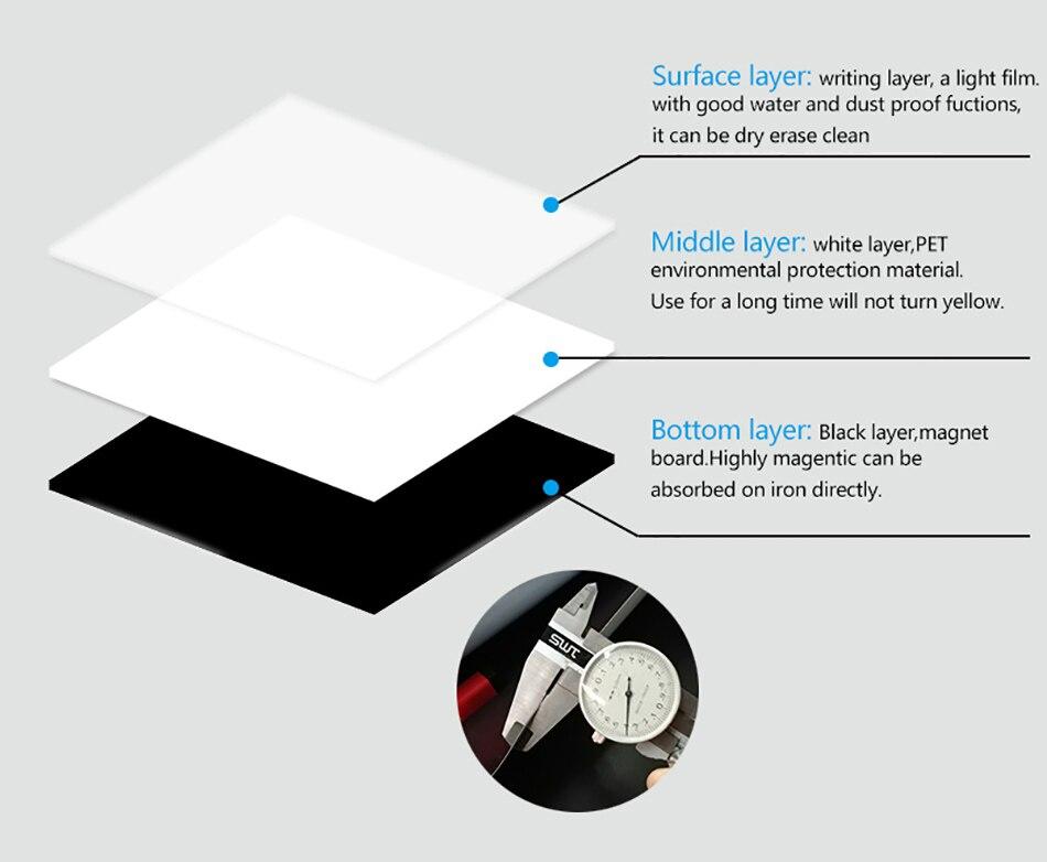 YIBAI магнитная доска для записей A4 мягкие магнитная доска, сухого стирания рисунок и записи доска для холодильник с бесплатный подарок