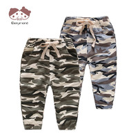 2019 2 8T Army Green Baby Boys Pants Autumn Spring Children's Casual Trousers Cool Camouflage Style New Brand Trousers for Boys