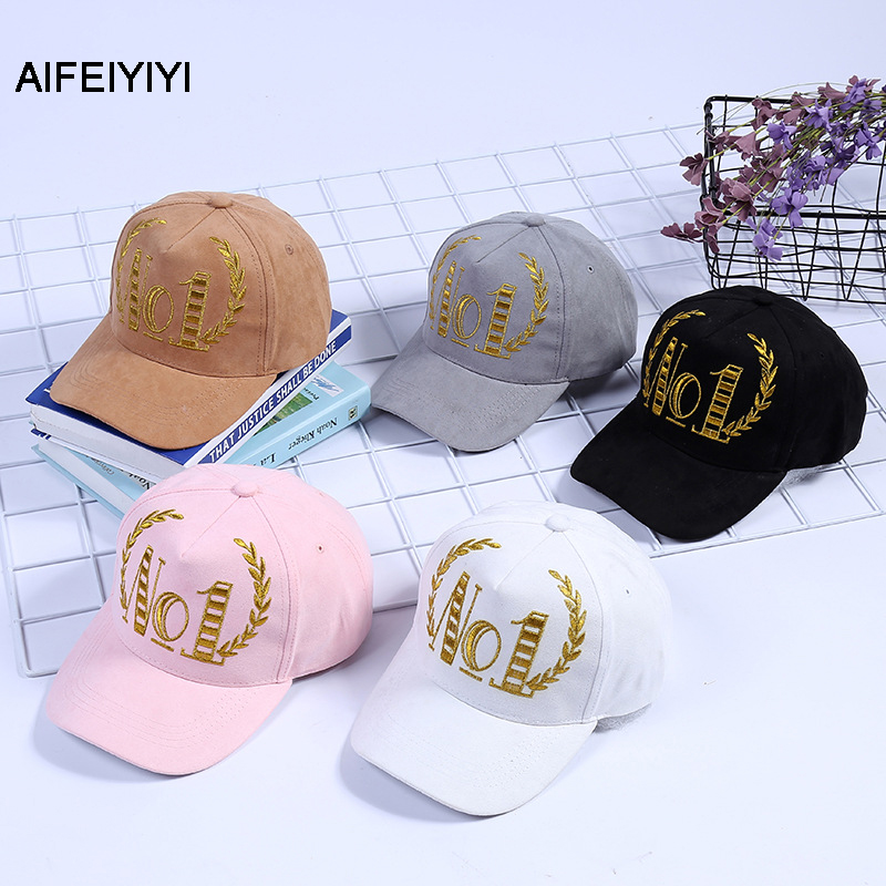 Hat new men and women outdoor Korean NO1 baseball cap autumn and winter letter cap couple casual hat