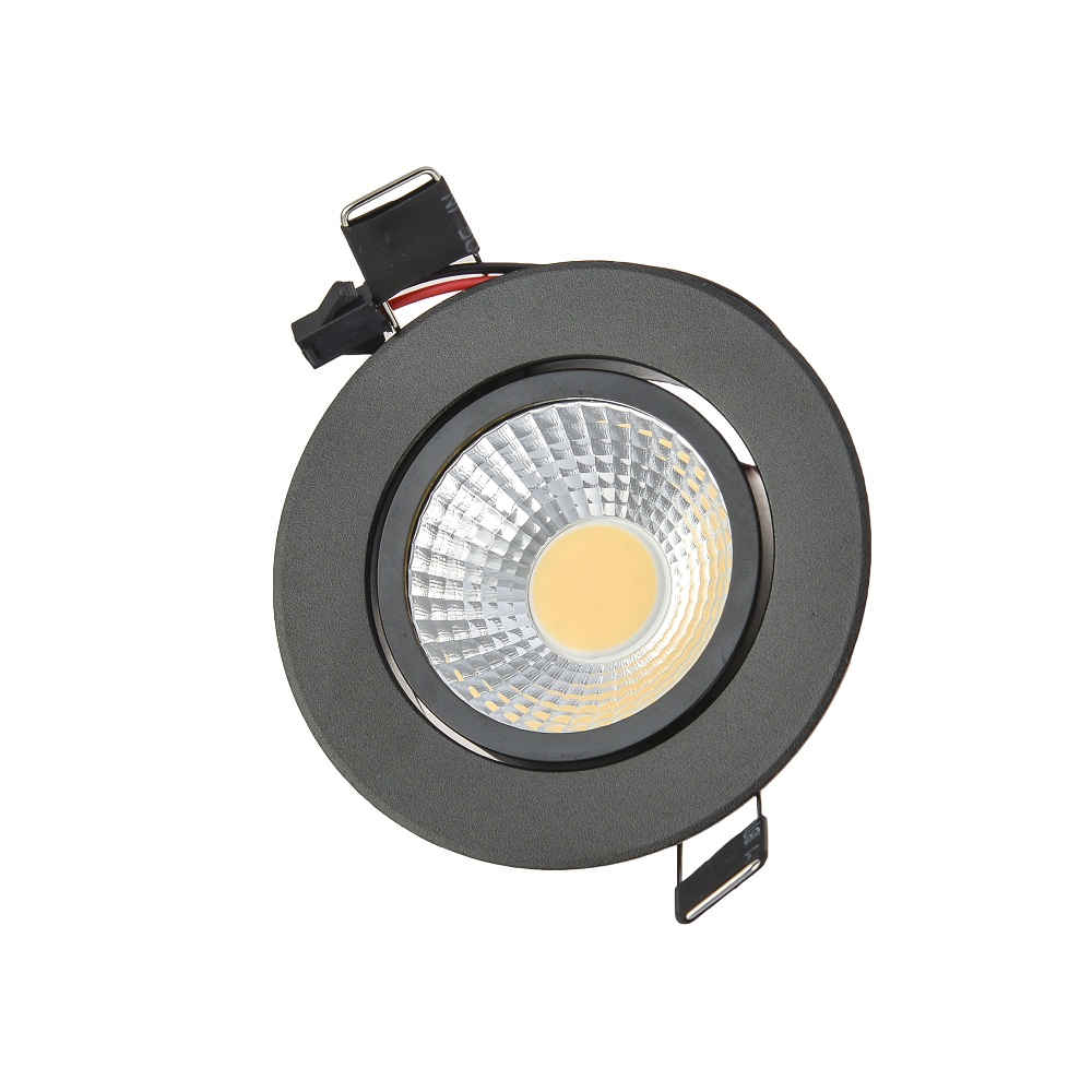 Черный встраиваемые затемнения светодиодные светильники удара 3 Вт 6 Вт 9 Вт AC85-265V AC110V 220 В пятно света потолок лампы для мотоциклов с Мощност...