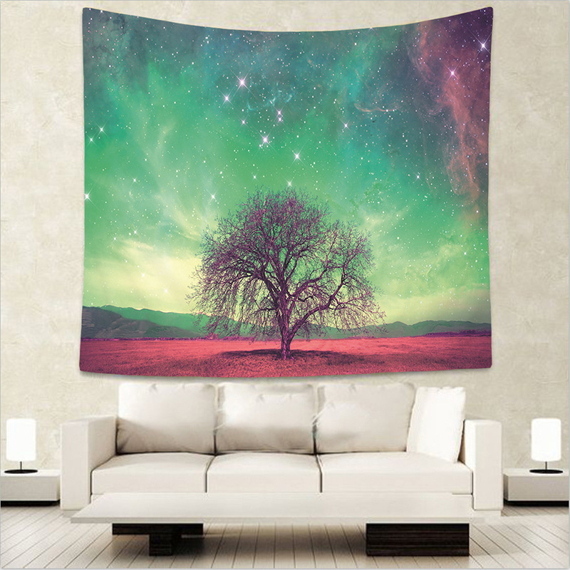 JAEBAEK 130150cm Beautiful Night Sky Beach Scarf Pashmina Forest Starry Wall Hanging Tapestry For Living Room Bedroom In Scarves From Womens