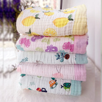 6 Layers Autumn And Winter Baby Cotton Gauze Scarf Wrapped Cotton Washing Baby Blanket Infant