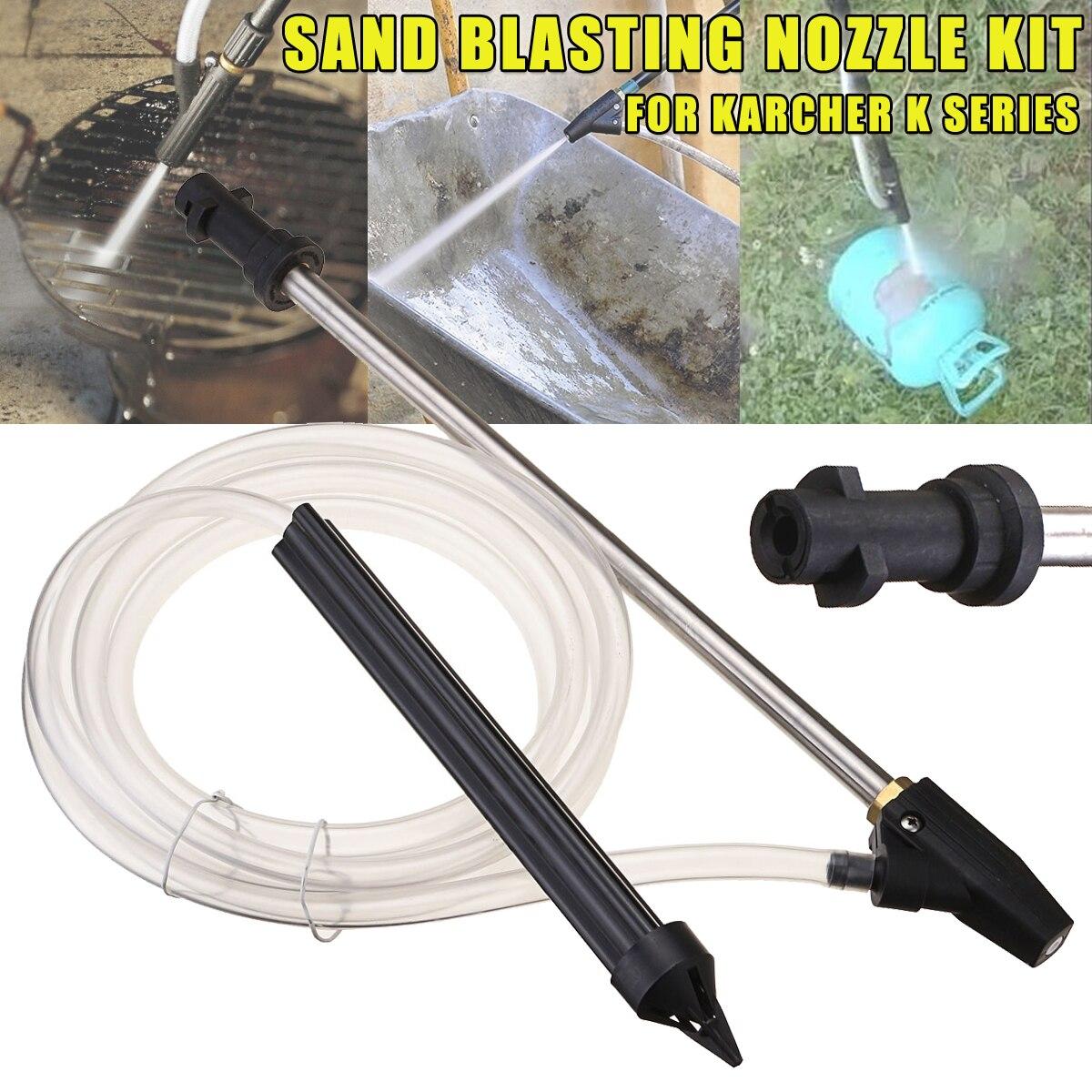 Tragbare Sand Blaster Nass Strahlen Washer Sandstrahlen Kit Für Karcher K Serie Hochdruck Scheiben Strahlen Druck Pistole