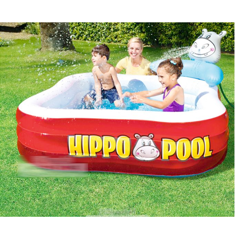 201*201*91cm Cute Baby Inflatable Swimming Water Marine Pool Baby Hippo Playground Pool piscina bebe zwembad cute children inflatable swimming water pool ocean ball thick pvc outdoor playground zwembad piscina bebe a107 1