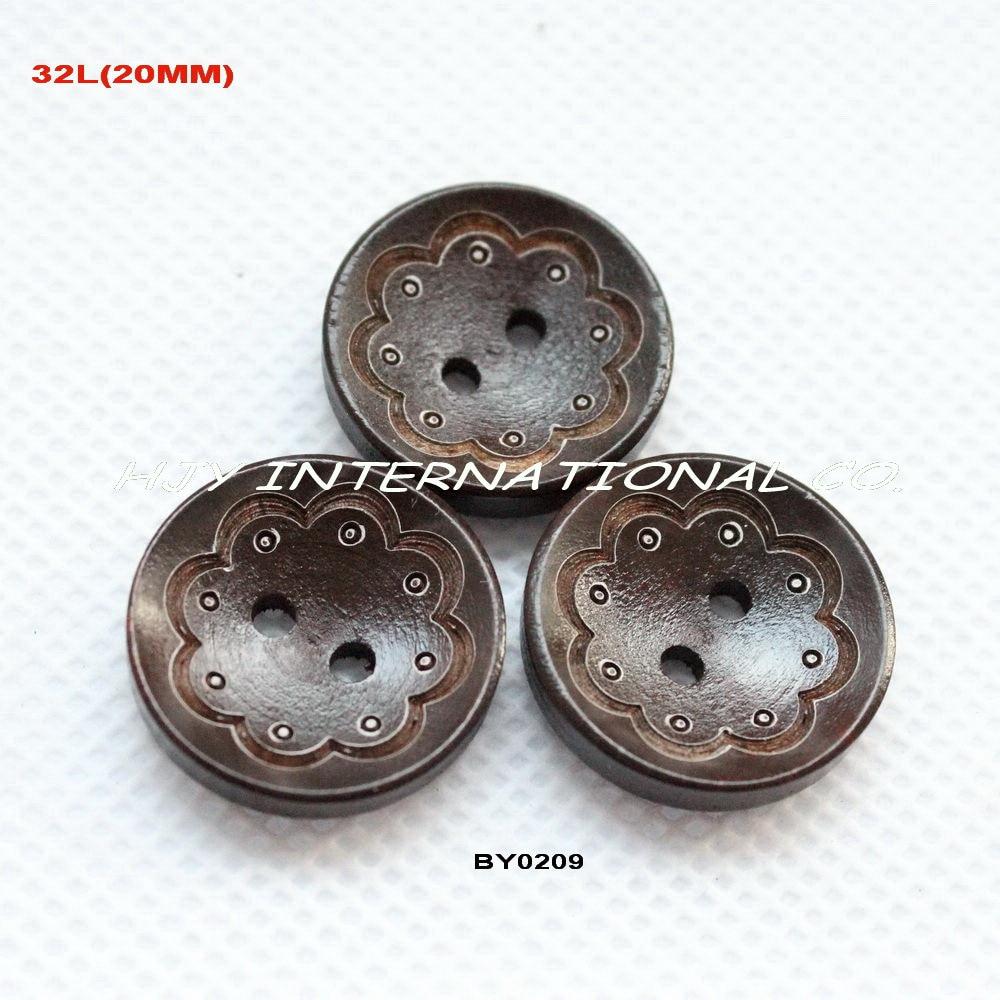 8a7a8f113db6e4 (100 pcs lot) 20mm ronde laser bouton en bois en vrac de kid coudre bois  boutons brun foncé-BY0209