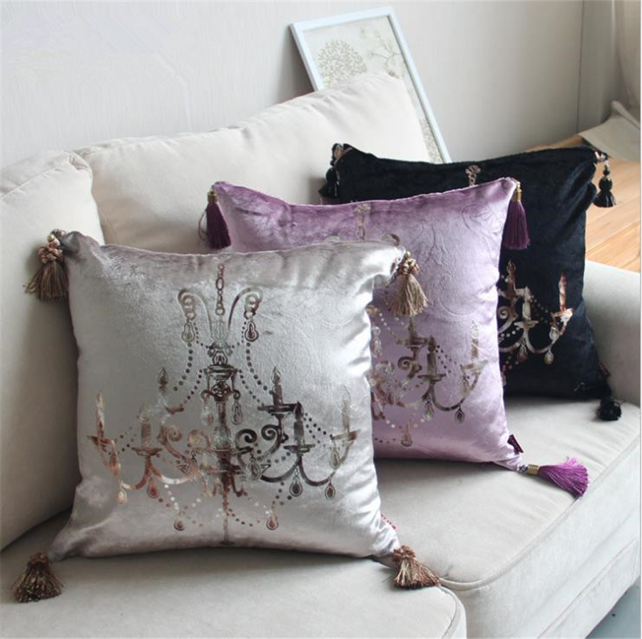 Luxury European Style 3 Color Hot Stamping Home/Office/Sofa/Bed Decorative Cushion/Throw Pillow(Not Contain Filling)45x45cm