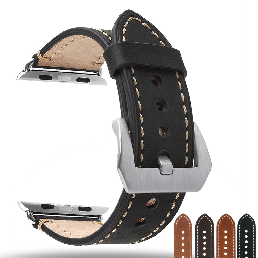 Watch Accessories Watchband For Apple Watch Bands 44mm 40mm Leather Watch Strap 42mm 38mm Series 4 3 2 1 for iWatch Bracelet
