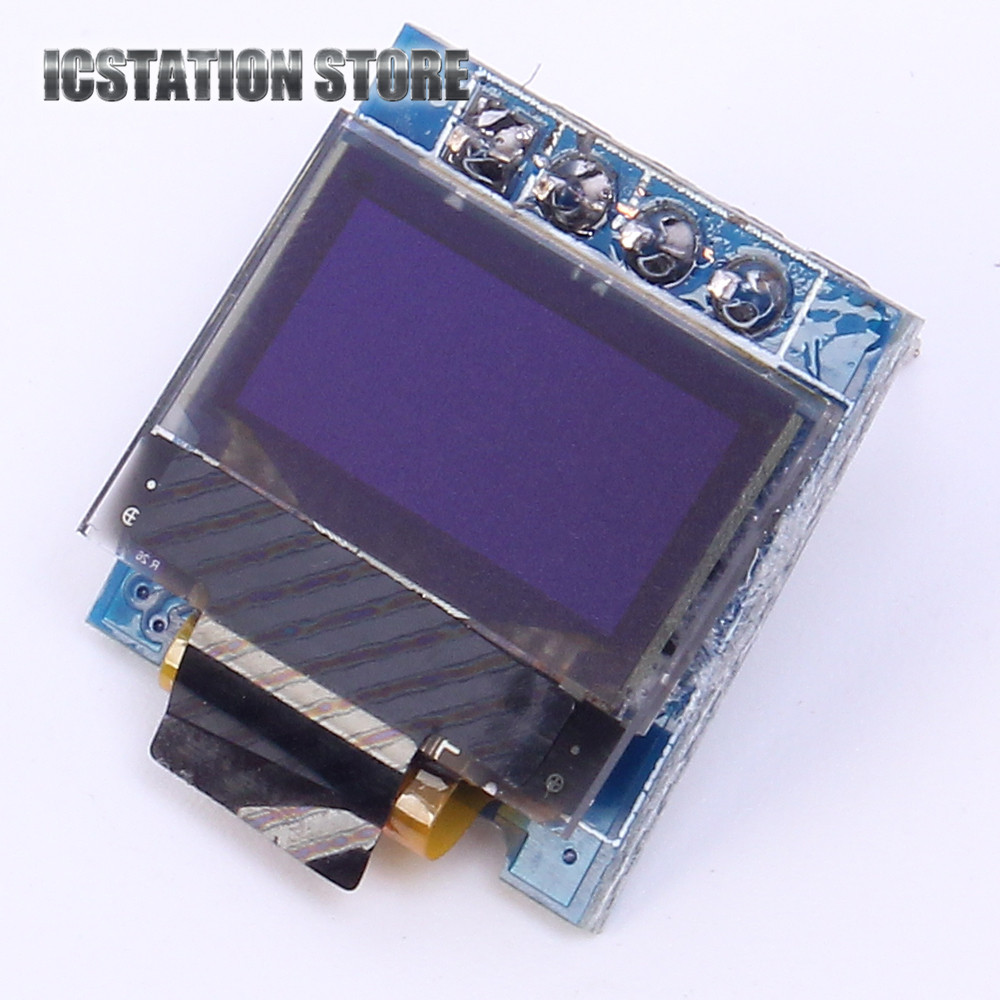 0.49 Bright White / Blue OLED Module 64*32 64x32 4pin OLED Display Module 0.49Inch IIC I2C Interface For Arduino 1 3 inch 128x64 oled display module blue 7 pins spi interface diy oled screen diplay compatible for arduino