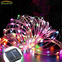 22M 200 LEDs Solar Battery Copper Wire Lights Strings Waterproof Lamp Lighting Wedding Party String Light