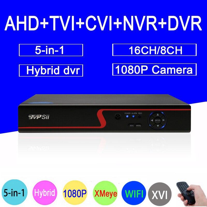1080P Surveillance Camera Red Panel 6 in 1 Hi3521A 1080N 16CH/8CH Hybrid Wifi IP NVR TVI CVI XVI AHD CCTV DVR Free Shipping gadinan 8ch ahdnh 1080n dvr analog ip ahd tvi cvi 5 in 1 dvr 4ch analog 1080p support 8 channel ahd 1080n 4ch 1080p playback