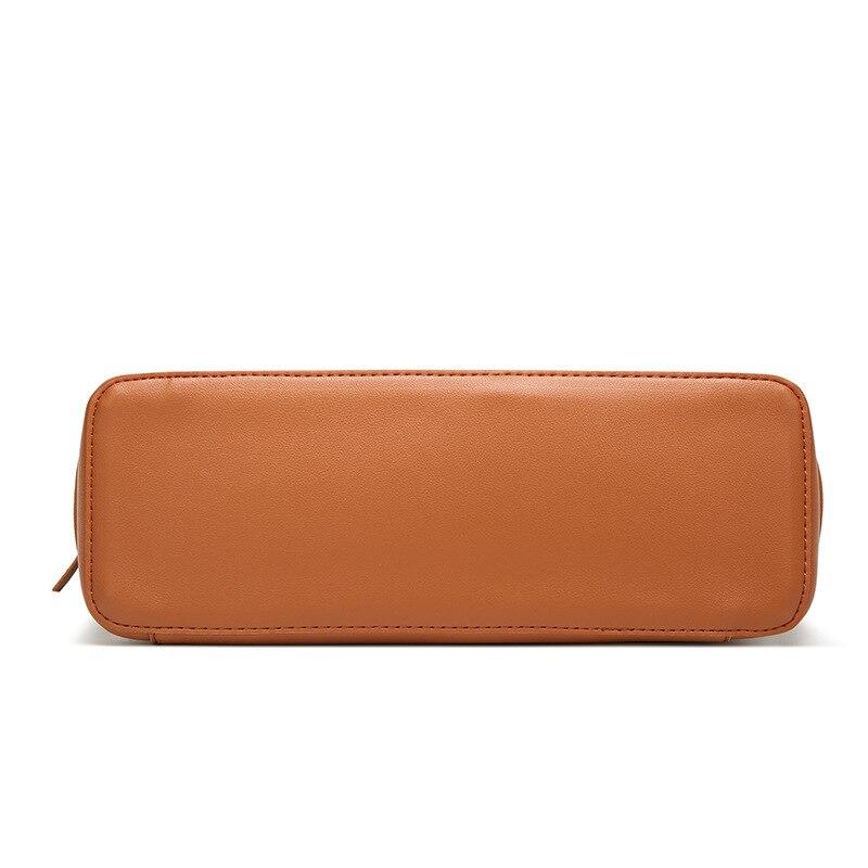 Women Tote Bag Handbags Plain Tassel Decoration Pu Leather Handbag