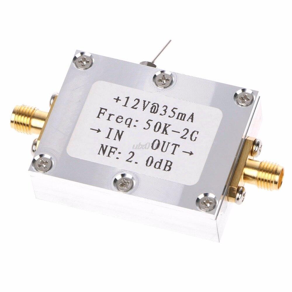 Amplificador de RF Receptor de Sinal 50 K-2 GHZ Low Noise Amplifier Amplificador de RF de Banda Larga Amplificador de Baixo Ruído LNA Ganho 31DB Ganho Mar