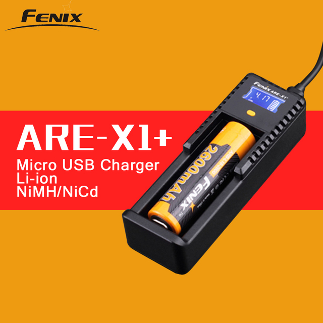 Original Fenix ARE X1+ Smart Battery Charger LCD Display Li-ion NiMH NiCD USB Intelligent Battery Charger for 18650 26650 AA AAA