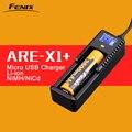 Original fenix are-x1 + display lcd carregador de bateria inteligente li-ion nimh nicd inteligente usb carregador de bateria para 18650 26650 aa aaa