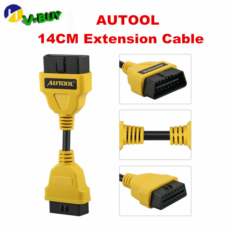 AUTOOL OBD2 Extension Cable For Launch IDIAG/Easydiag/Pro/Pro3/V/V+/GOLO/Mdiag/ELM327/AL519 Extend Obdii Connector OBD Adapter