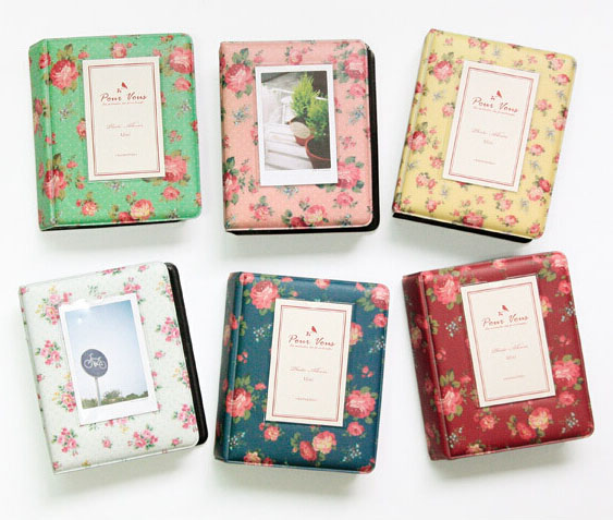 все цены на 64 Pockets Flower Photo Album Wedding for 3 Inch Mini Instant Fuji Instax Polaroid & Name Card Album de Fotografia 7s 8 25 50s онлайн
