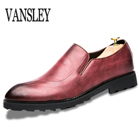 2017 Autumn Breathable Soft Genuine Leather Flats Loafers Men Oxford Shoes Casual Dress Luxury Fashion Slip