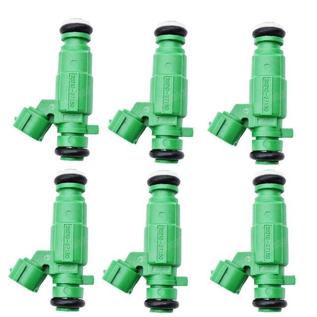 현대 소나타 산타페 TIBURON 투손 기아 OPTIMA SPORTAGE 2.5 2.7L 에 대한 6 개/몫 연료 인젝터 35310 37150 9260930004 3531037150