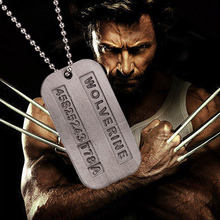 Wolverine Dog Tag ID Necklace X Men Marvel