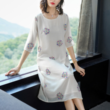 XXL Dresses Woman Party Night 2019 Plus Size White Dress Women Print Floral Summer Midi Robe Elegant Vintage Vestidos Clothing цена и фото