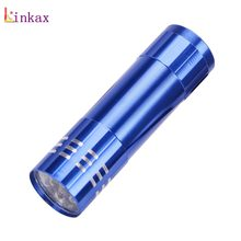 Mini 3 Mode 9 led Flashlight White Led Lamp Portable Small Pocket Flashlight Torch Penlight for Hiking Camping use 3*AAA Battery(China)
