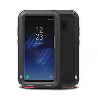 For Samsung Galaxy S8 Plus Luxury metal heavy armor case For Samsung S7 S7Edge mobile phone shockproof silicone full body shell