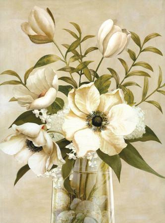 Европейский стиль украшение цветы букет принт холст для для дома декор